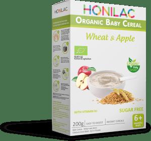 Био бебешка каша пшеница и ябълка Honilac